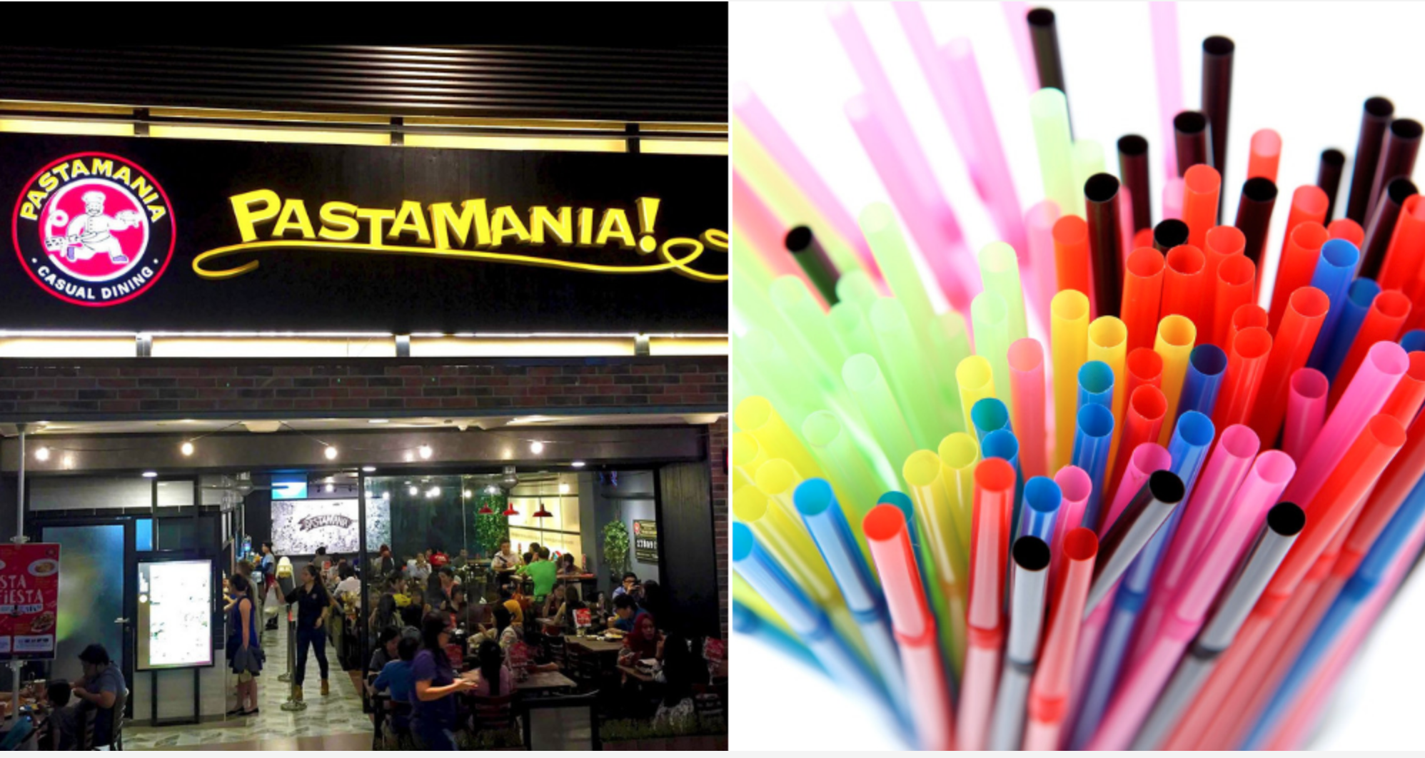 pastamania supports no plastic straws